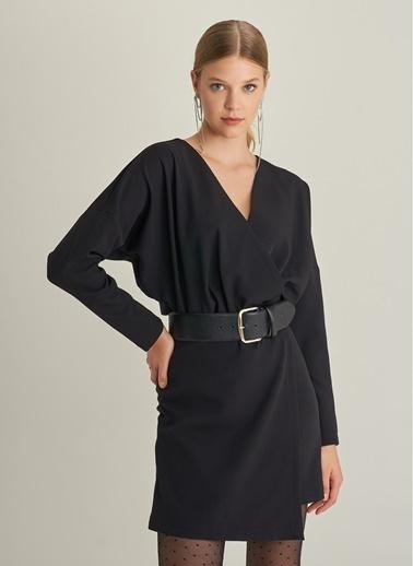 NGSTYLE Yarasa Kol Elbise Siyah